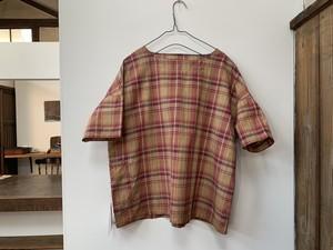 YURUKURU × talo-K  柿渋染ワークシャツ チタン媒染