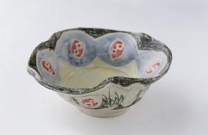 畑中圭介 パステルオリベ花型鉢