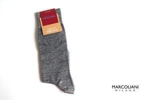 マリコリアーニ|marcoliani|クルー丈ソリッドソックス|Pique|Flannel grey