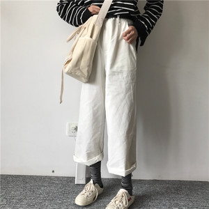 【即納】casual wide leg pants 5664