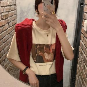 2020SS シンプルプリントの半袖Tシャツ