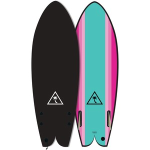 "Heritage series Retro Fish 5'6"" Turqoise"
