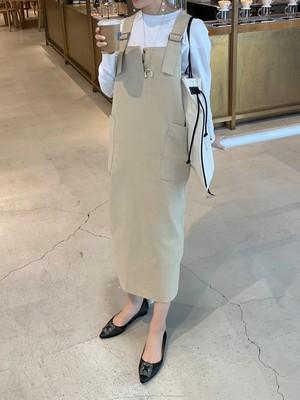 【予約】 big pocket jumper skirt / beige 5/29 21:00~ 再販 (6月下旬発送予定)