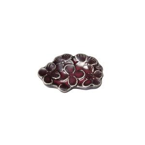 「リアン Lien」カトラリーレスト 箸置き パープル 美濃焼 267818
