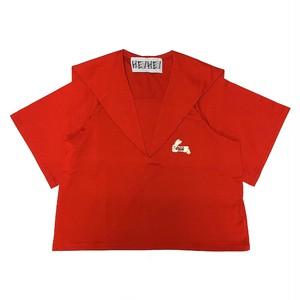 セーラーカラー Tシャツ RED
