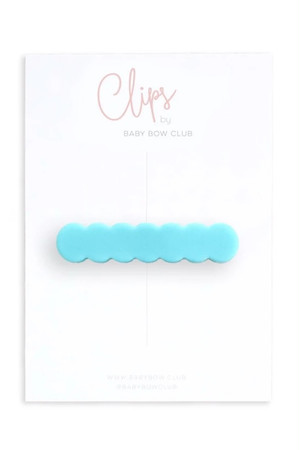 BABY BOW CLUB Scallop Clip // Aqua