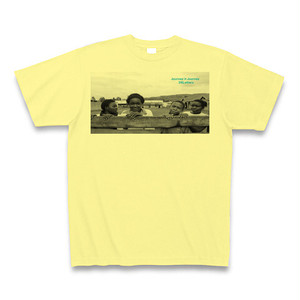Journey×Journey 26Letters T-shirts from Uganda/Light yellow