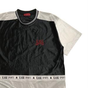 90's KARL KANI ゲームシャツ風 メッシュ切り替え Tシャツ