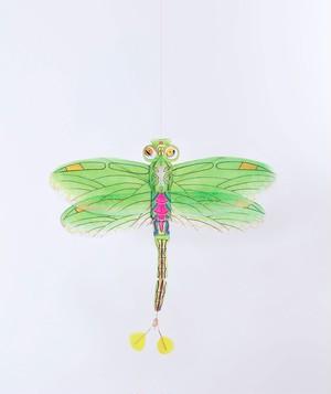 【petit pan】トンボの凧  グリーン Green dragonfly kite