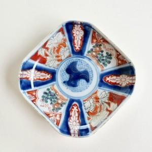 [NO.HM010]伊万里 色絵小皿 明治/ Imari Small Plate/ Meiji 【21021】