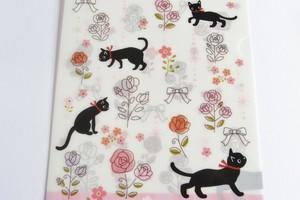 黒猫ミィーのクリアーファイル A5サイズ