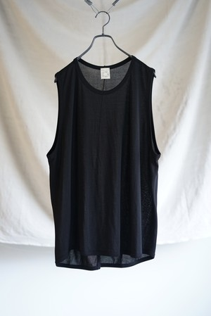 JAN JAN VAN ESSCHE - LOOSE FIT CREW NECK TANKTOP (BLACK)