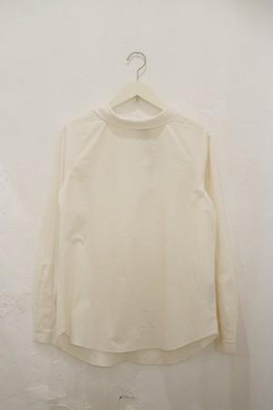 "A .Dupré ""High neck gather blouse""[white]"
