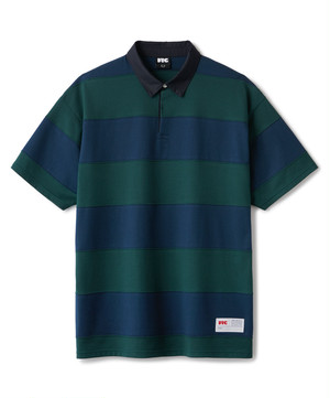 FTC / BOLD STRIPE RUGBY SHIRT -GREEN-
