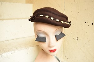 VINTAGE brown felt hat