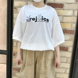 【HOME MADE】うさぎプリントTシャツ(100015)