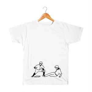盗塁 キッズTシャツ