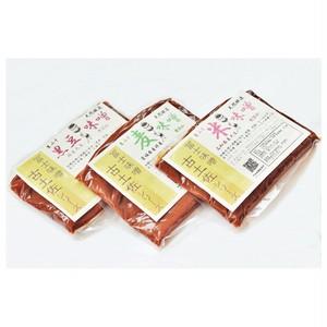 生みそ 三種「米味噌・麦味噌・黒豆味噌」 各400g (送料込み)