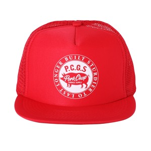 CIRCLE PORK CAP/RED