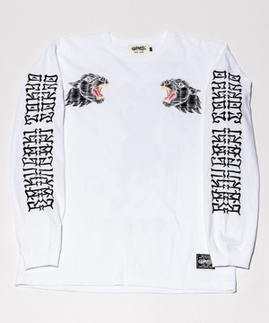 TRIPLE BLACK PANTHER Long T-Shirts White