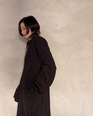 vintage arabian shirt dress - black -