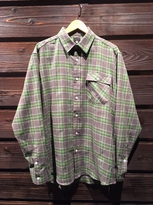 ACER  Flannel Check Shirt  AC20026S Gry/Green Mサイズ