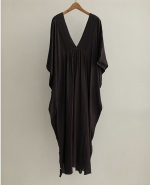 TODAYFUL Pintuck Caftan Dress 12010312 チャコールグレー