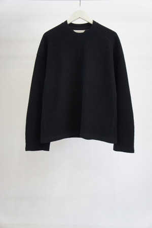 RIPPLE L/S T-SHIRT -BLACK- / JieDa
