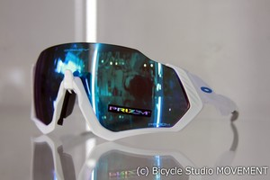 "OAKLEY ""FLIGHT JACKET"" Polished White /Prizm Sapphire"