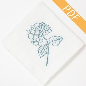【図案ダウンロード】『バックステッチの紫陽花』