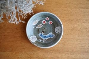 砥部焼/「青い鳥」銘々皿(小)/森陶房kaori