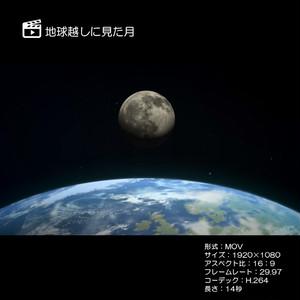 地球越しに見た月