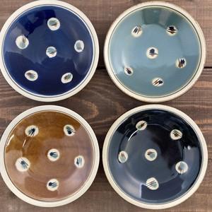 5寸皿一枚焼き/蝋抜き(縁白抜き)