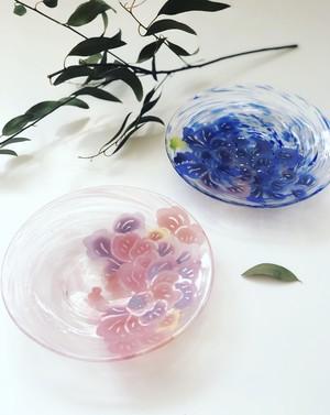 琉球ガラスプレート「琉紅」RYUKYU GLASS