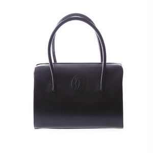 Cartier/カルティエ マストラインレザーハンドバッグ ブラック(P11326)