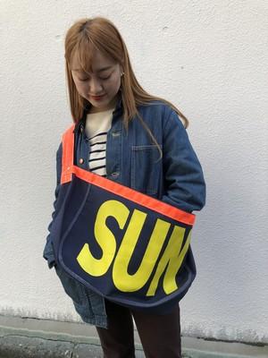 "US Made Newspaper Boy Bag, ""SUN"" Yellow"