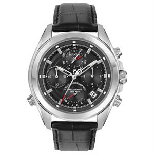 新品 BULOVA ブローバ Precisionist プレシジョニスト 96B259 Chronograph Quartz 44.5mm 黒 腕時計