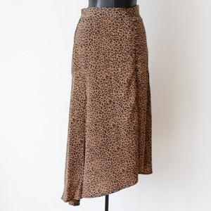 GAUDi レオパードアシンメトリーフレアースカート:021BD75007 ¥21,000+tax