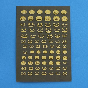 ハロウィン かぼちゃ 箔押し レジン封入用フィルム