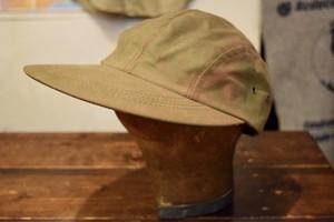 USED FILSON Waxed Tin Cloth Duckbill Cap made in USA C0200