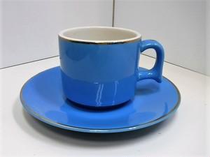 レトロなカップ&ソーサー【ブルー】(1107203S60)