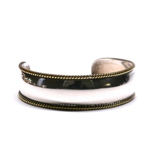 Vintage Mexican Silver & Brass Wire Work Slim Bangle