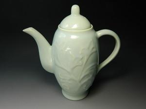 煎茶道具 水注 唐草青磁 新品
