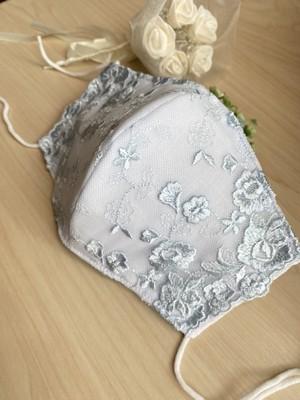 シルク❤️〜幸せを運ぶ〜サムシングブルーマスク★ブライダル・結婚式・豪華マスク