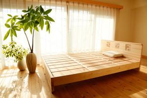 赤板タイプ【200年杉】ダブル(「眠れる森のSUGI」ベッド)