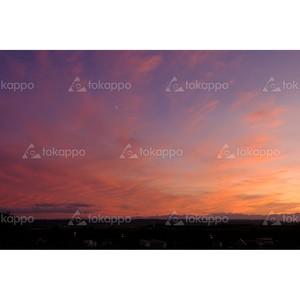 日高山脈の夕映え