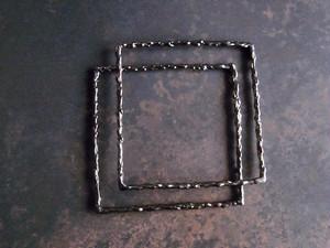 Melt/シルバーダブルバングル(ブラックルテニウム仕上げ)