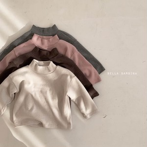 =sold out= plain high-neck T-shirt〈BELLA BAMBINA〉【baby】