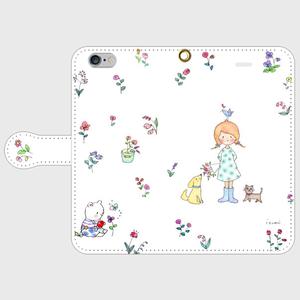 bouquet 手帳型スマホケース iPhone6/6s