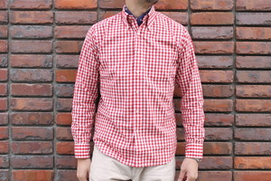 WORKERS / Modified BD, Red Gingham  Broad Cloth